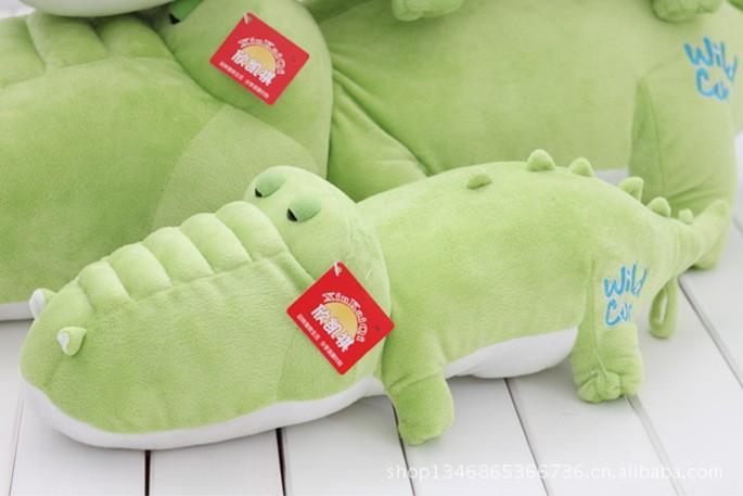 4781d75fc46300 ⊹Crocodile de bande dessinée en peluche jouet doux vert crocodile ...