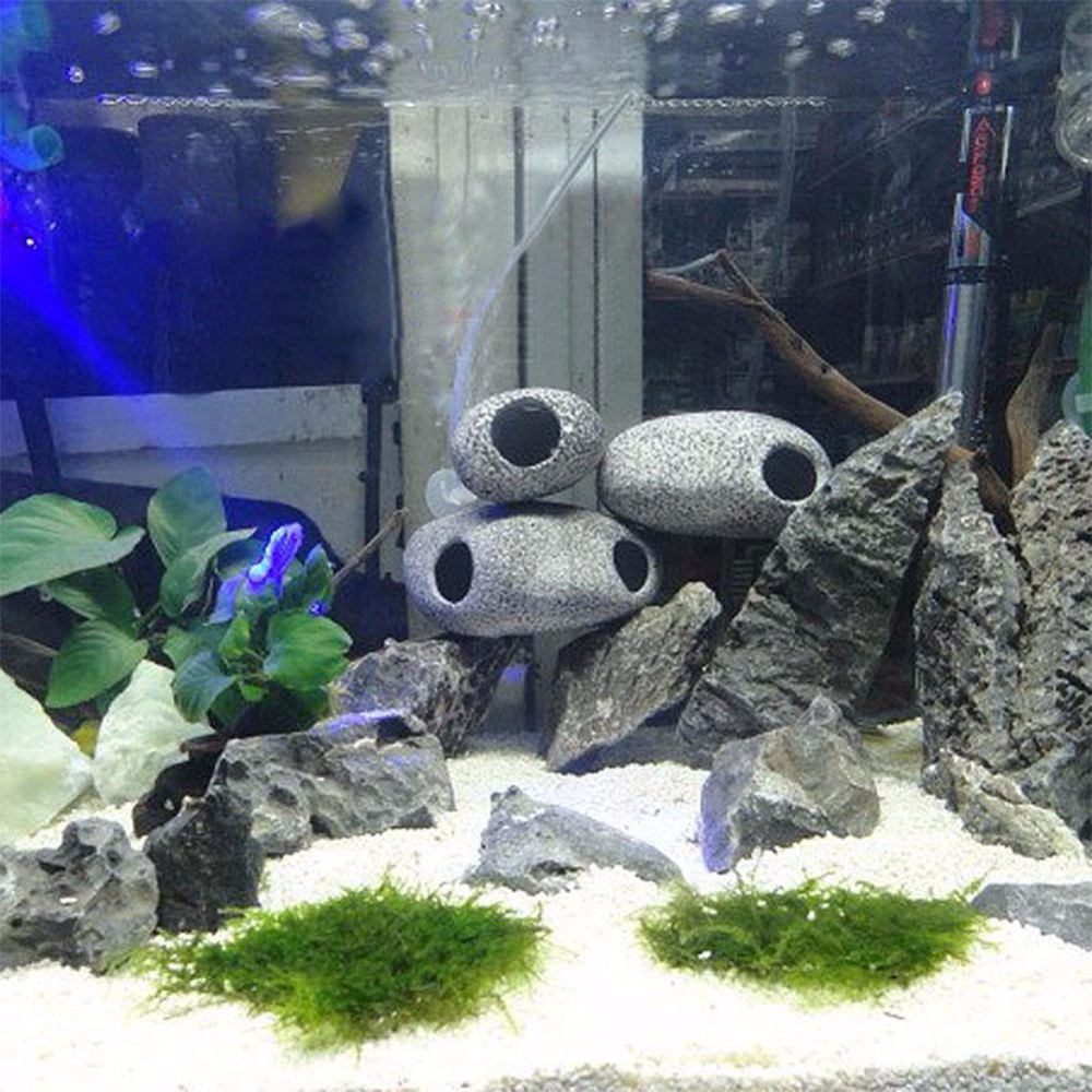 Switty Fish Tank Cichlidés Pierres 3 Pcs Aquarium Pisciculture Cave