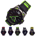 Creative 2015 Hot Sales New Fashion Men Silicone Sports Watches Quartz Watches Men Casual Generous Watches