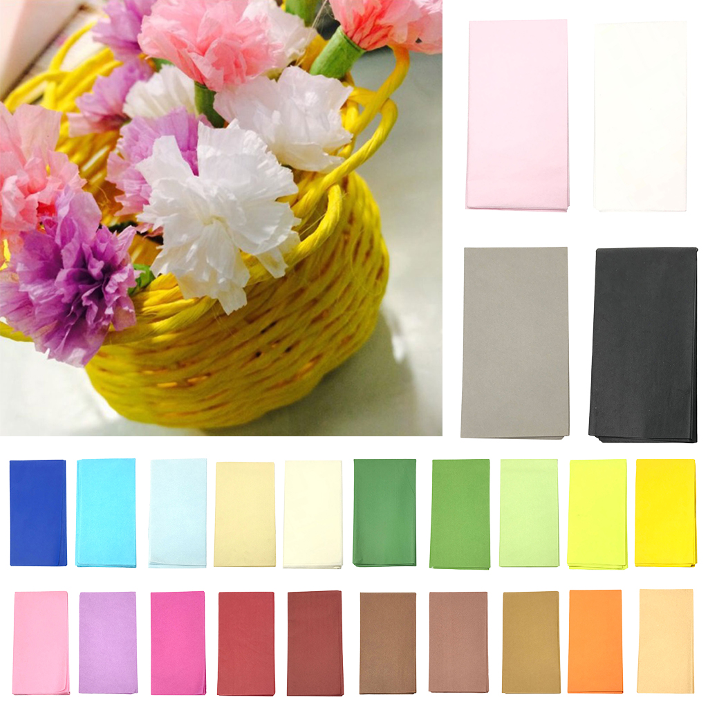 10pcs 50x50cm Tissue Paper Flower Wrapping Paper Gift Packaging