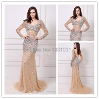Plus Size Evening Gowns With Sleeves Party Dresses 2015
