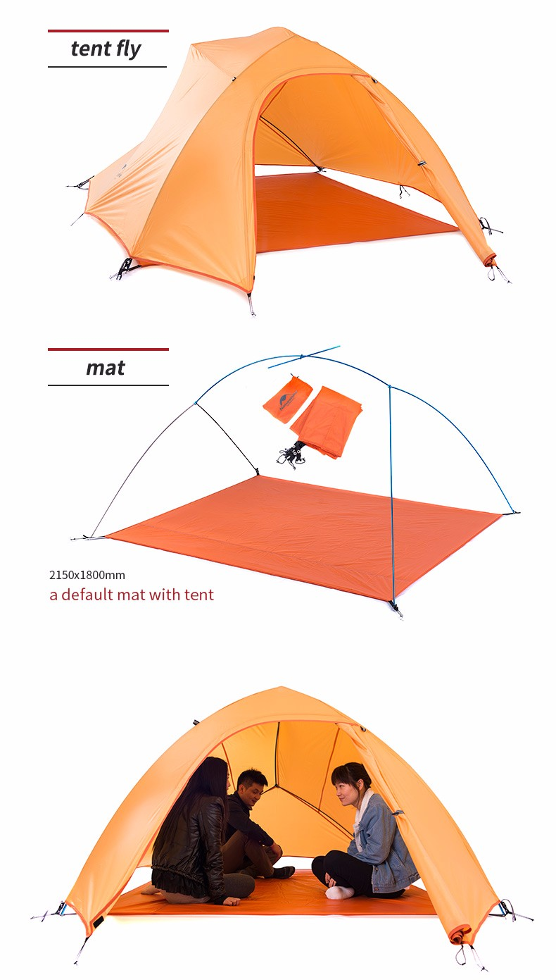 ... Inner tent material B3 breathable Net Tent bottom material 20D ripstop Nylon PU coating 5000mm Rod material 7001 Aluminum alloy Package listflysheet ...  sc 1 th 298 & NatureHike 3 Person Lightweight Camping Tent Outdoor Hiking ...