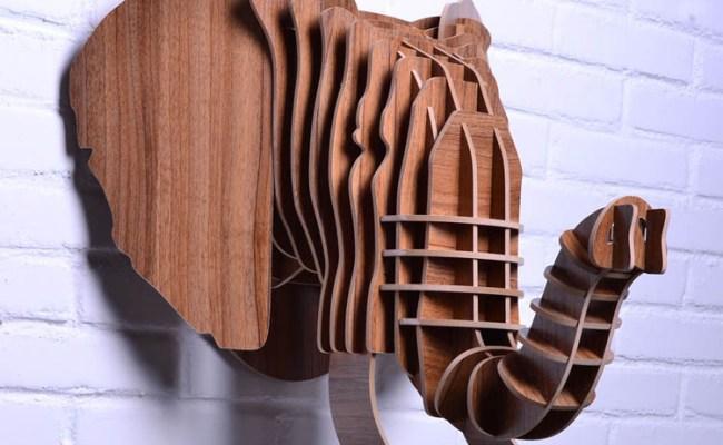 Aliexpress Buy Diy Wooden Elephant Head For Wall
