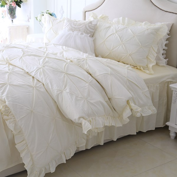 White Ruffle Bedding