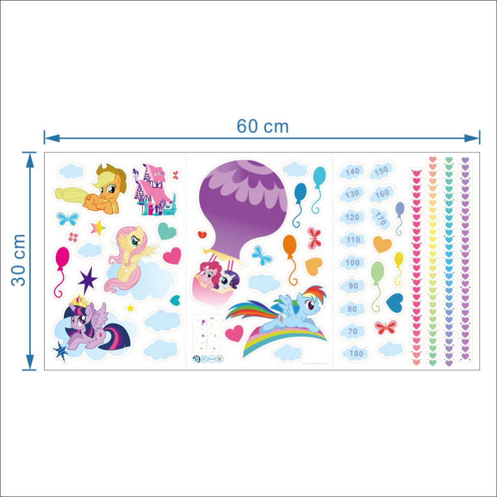 Cute Colorful Cartoon Flying Horse Child Baby Height Measure