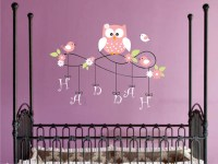 Aliexpress.com: Comprar Owl Wall Decal Personalized Name ...