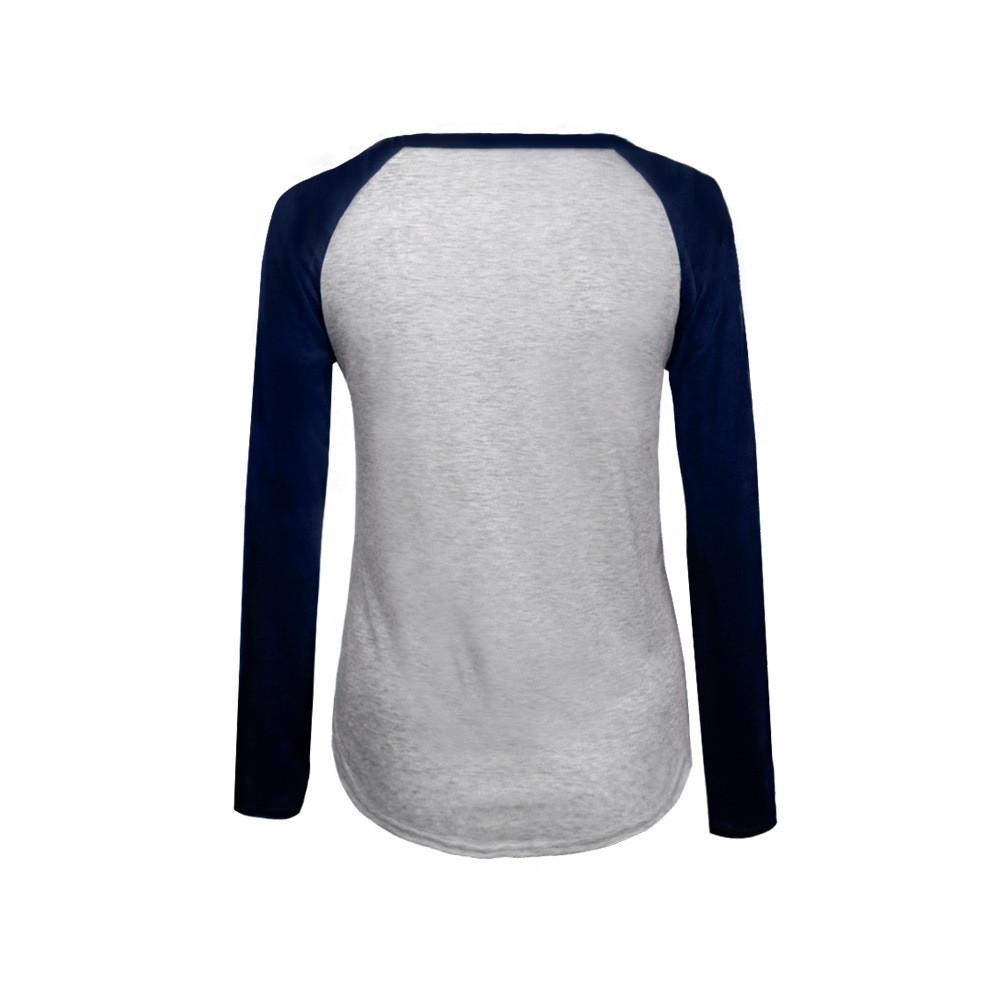 604a4dc6c ᗐOhryiyie 2018 nueva Otoño Invierno moda de manga larga Camiseta ...