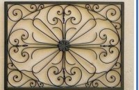 Wrought iron decorative wall hangings wall View heating ...