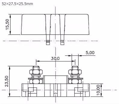 Free shipping 2pcs x ANS-200 Mini Car Fuse Box ANS Fuse