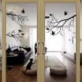 Bird tree branch sticker diy decal on the window glass wall home decor