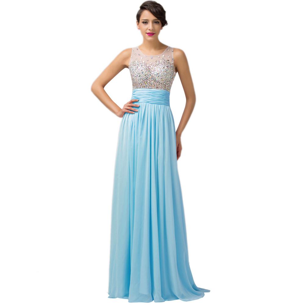 ⑦Women Pretty Long Evening Dresses 2018 Grace Karin Pink Blue Green ...