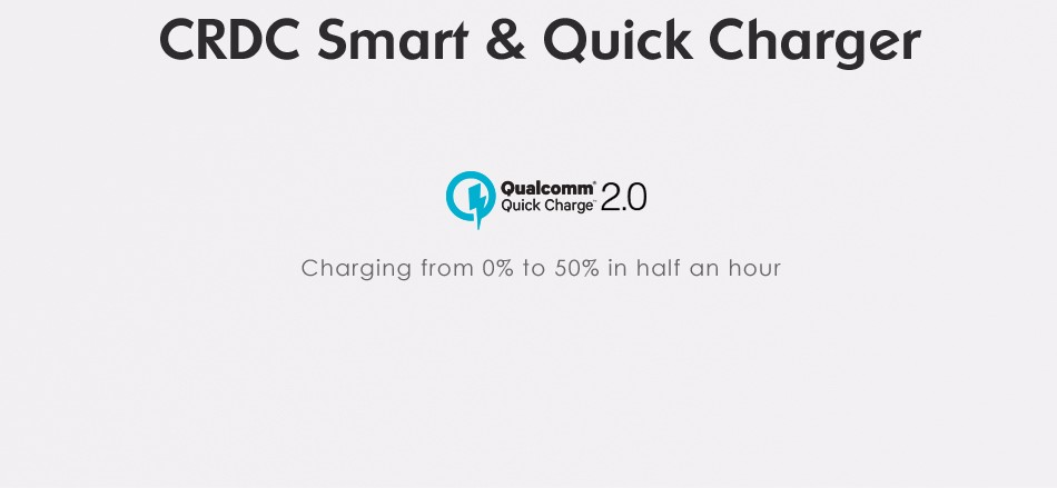 ⓪CRDC Quick Charge 2.0 ٩(^‿^)۶ 18W 18W USB Charger Fast