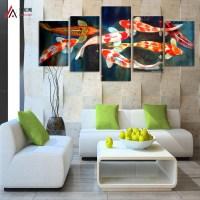 Online Buy Wholesale koi fish wall art from China koi fish
