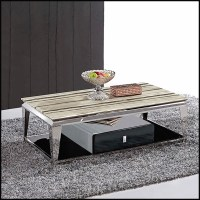durable-coffee-table-marble-top-for-living-room-stainless ...