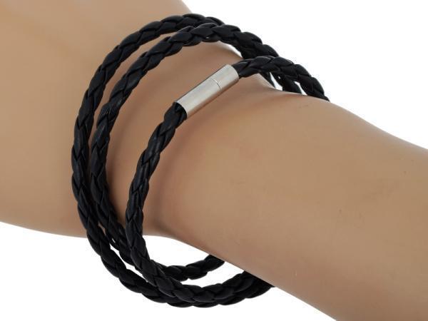 c9a8c92ba923 Moda mens brazalete de acero inoxidable brazalete de goma brazalete pulsera  multi colores pulsera de acero inoxidable para hombres