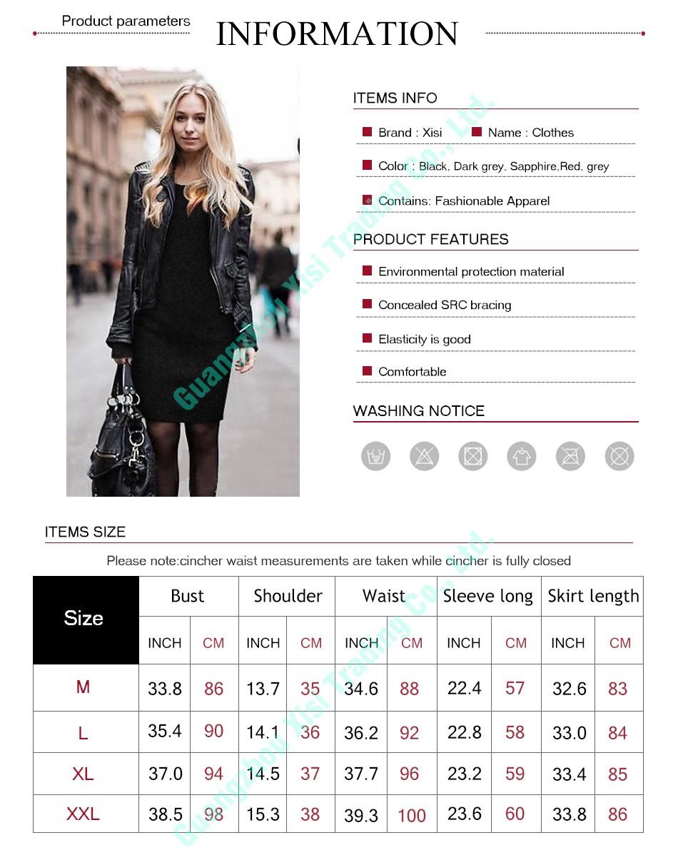 fd1d0c6ffbc4 2016 Новинка на осень-зиму женщин платье Длинные рукава трикотажные Тонкий  свитер для женщин высокие эластичные сплошной цвет Большие размер.