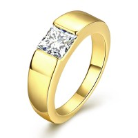 50% Off Gold Plated Ring Stone Men Cubic Zirconia Wedding ...