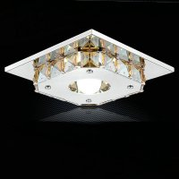 Modern led crystal ceiling lights flush mount light ...
