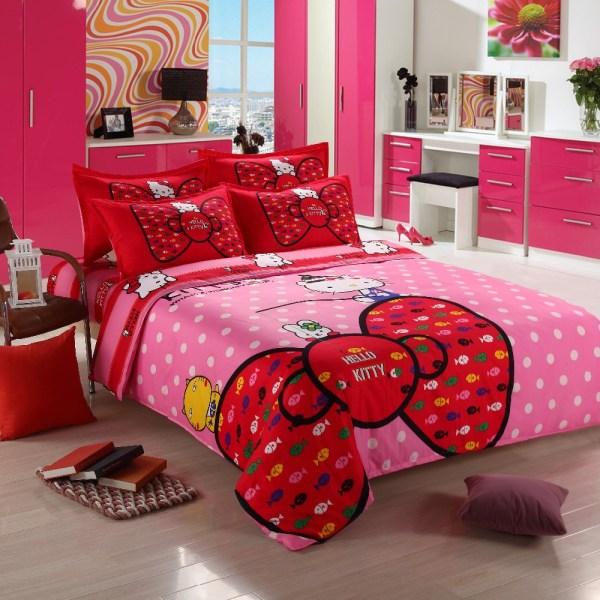 3 4pcs Kitty Bedding Sets Comforter Set Duvet Cover Quilt Bedclothes Twin Full