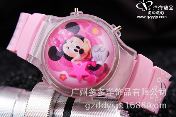 Disney Brand Cartoon Frozen Children Girls Wristwatch Quartz Leather Waterproof Child Watch Childrens Watches Diamond Warm And Windproof Children's Watches