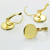 Aliexpress.com : Buy Earring Setting glass cabochons Gold ...