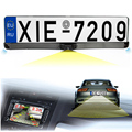 3in1 Two Car Parking Sensor Reversing Radar Video all in one System And License Plate Rearview