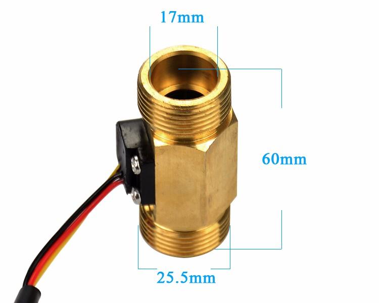 (ツ)_/¯Aiyima 1 шт. Медь G3/4 DN20mm 1-30L/мин DC3V-18V на ...