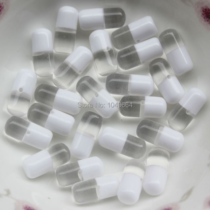 500Pcs-Clear-White-500pcs-6-12MM-New-Great-Deal-Capsule ...