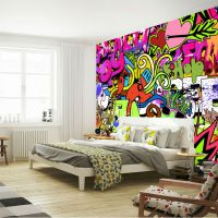 Graffiti Wall Art Bedroom - rabbit shadow graffiti wall ...