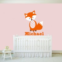 Fox Wall Decals Personalized Name Vinyl Wall Art Baby ...