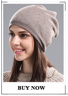 ed19a49ee10 ୧ʕ ʔ୨IMISSU Autumn Women s Hats Beanie Knitted Real Wool Skullies ...
