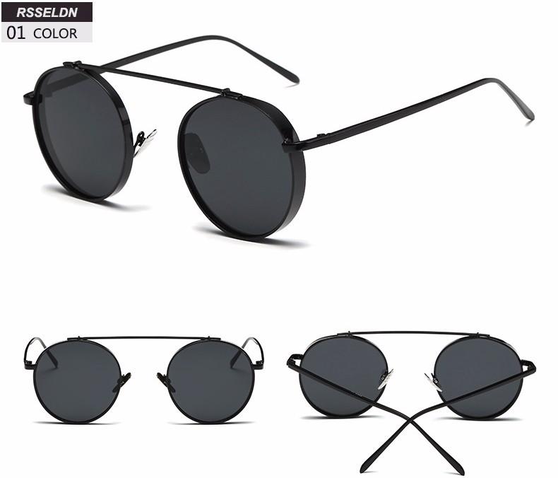 c74b0d9d586192 RSSELDN Demi Cadre Cat Eye lunettes de Soleil Femmes De Luxe Marque 2018  Noir Rose Strass Lunettes Dames Lunettes De Soleil des Femmes UV400  MétalUSD ...