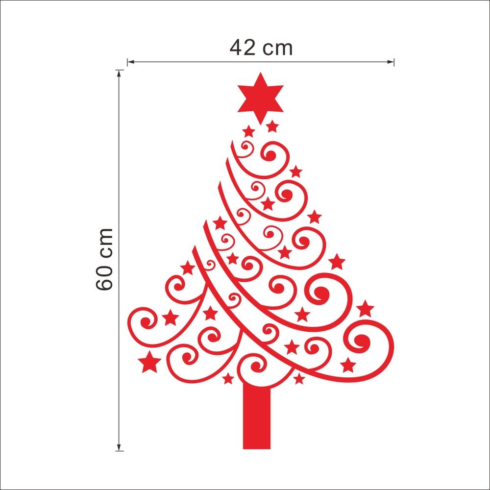 ⑧2016 feliz Navidad vinilo árbol Adhesivos de pared extraíble ...