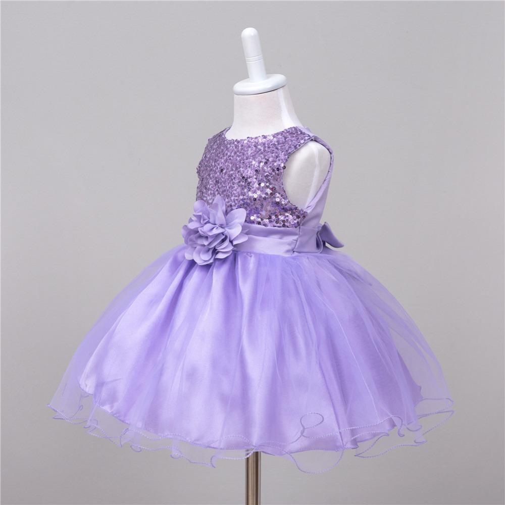 6eefced49 Lentejuelas de verano princesa vestido de fiesta chica flor vestidos ...