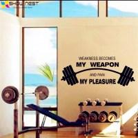 Aliexpress.com : Buy Fitness Motivational Quotes Wall Art ...
