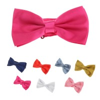 Trendy New Men Bow Tie Solid Color Wedding Party Dressing
