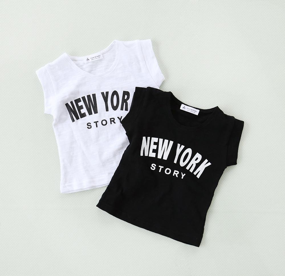 c461a56712f3 இ2016 children breathable white cotton short sleeved T-shirt boy ...