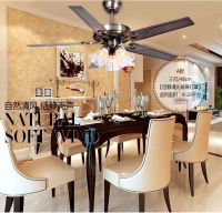 48 inch Iron leaf lights fan living room dining room ...