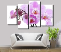 Hand Painted Modern Purple Orchid Wall Art Canvas Flowers ...