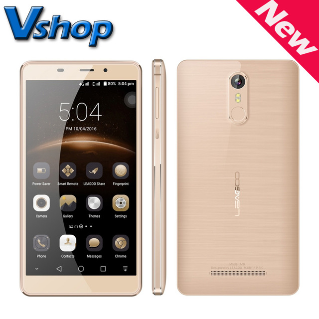 Original LEAGOO M8 3G Mobile Phone Android 6.0 MTK6580A Quad Core RAM 2GB ROM 16GB 720P 13.0MP 5.7 inch Dual SIM Cell Phone