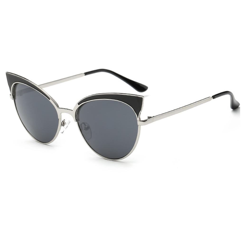 ̿̿̿(•̪ )Cateye Olho de Gato mulheres óculos de Sol Tons de Grandes ... 827a9e01a9