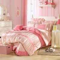 Lace Butterfly Comforter Set Round Bed Cover Twill ...