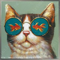 Cat Oil painting On Canvas Wall Pictures Paintings For ...
