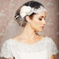 Wedding amazing dress: Vintage wedding hair veils