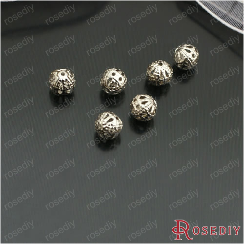 (8945-G)50PCS 6MM 8MM Iron Hollow Metal ball Round Beads Spacer Beads Diy  Handmade Jewelry Findings Accessories Wholesale 8eee8cdb450a