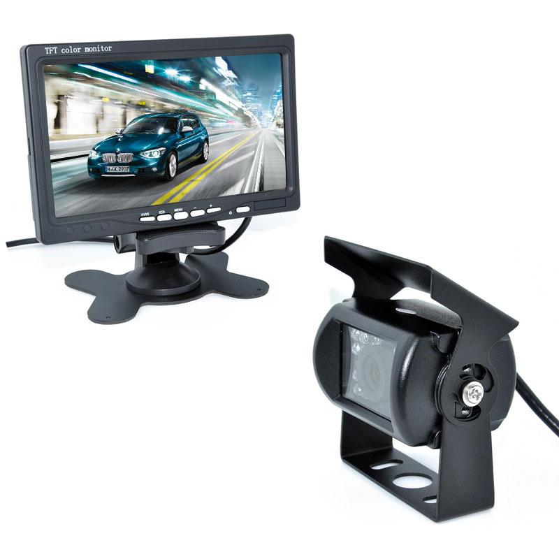 ①18 IR Reverse Camera +NEW 7 LCD Monitor+Car Rear View Kit ...