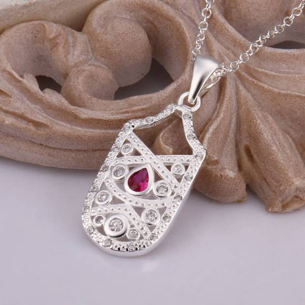 Necklace 925 Silver Necklace 925 Silver 18 Inches Chain Pendant Necklaces  Inlaid Crystal Jewelry Free Shipping eiwu LN434 b028f7edf432