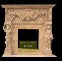 Fireplace Surround Ideas Roma Style Beige Marble Fireplace