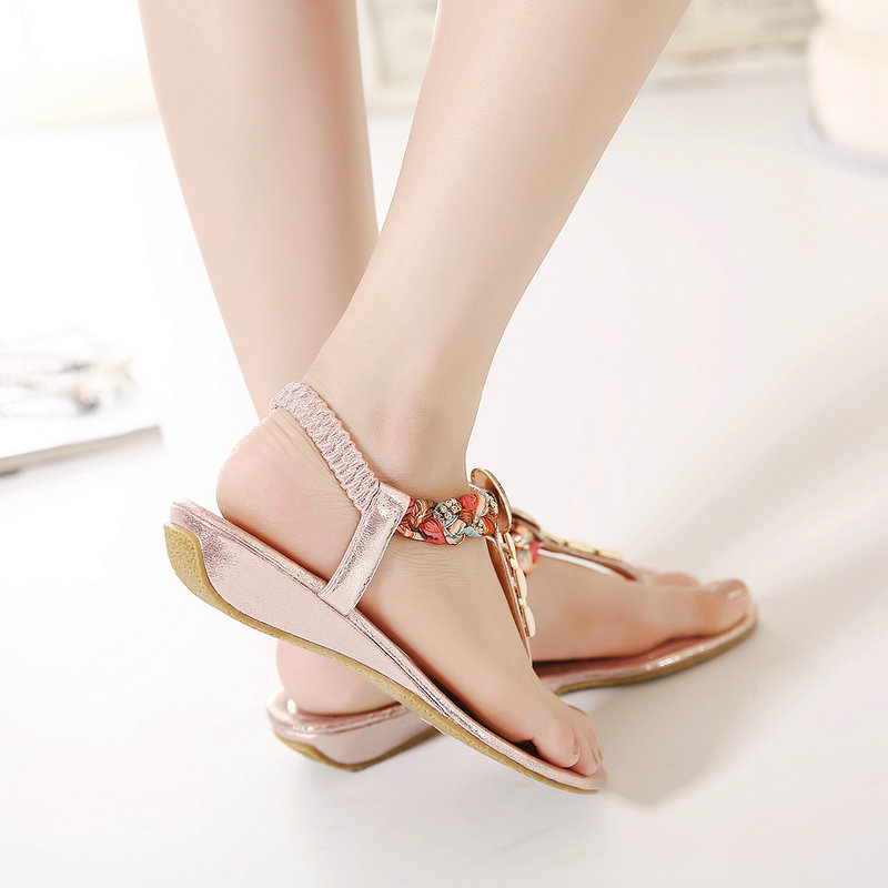 78bd1e46e 2018 NEW Fashion Woman Flats spring summer Women Shoes top quality T-strap  women sandals suede comfort Flat plus size ALF192