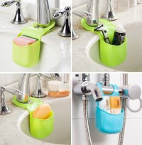 Kitchen Sink Sponge Holder Bathroom Hanging Strainer ...